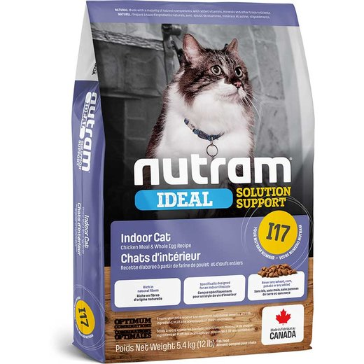 Nutram I17 Ideal Solution Support IndoorShedding Cat