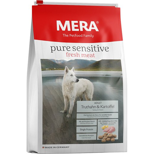 Mera Dog pure sensitive fresh meat Truthahn & Kartoffel