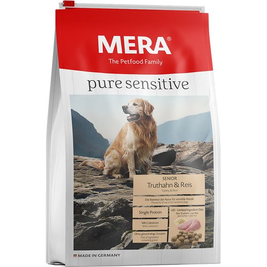 Mera Dog pure sensitive Senior Truthahn & Reis