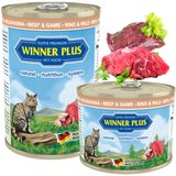 Winner Plus Cat Menue Katzenfutter mit Rind & Wild - 395 g